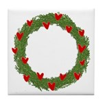 Christmas Wreath Tile Coaster