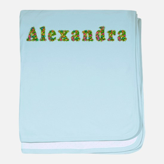 Alexandra Floral baby blanket