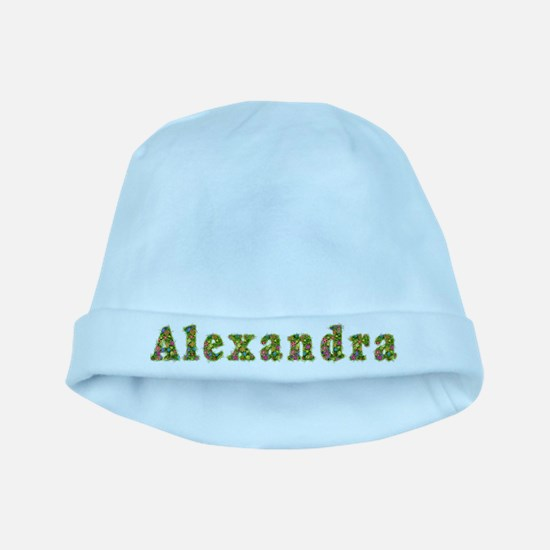 Alexandra Floral baby hat