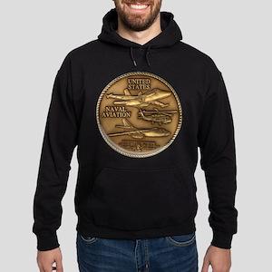 Bronze Naval Aviation Centennial Hoodie (dark)