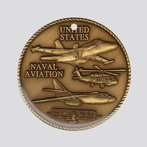 Bronze Naval Aviation Centennial Ornament (Round)