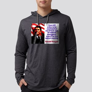 I Have Left Orders - Ronald Reagan Mens Hooded Shi