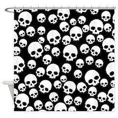 Random Skull Pattern Shower Curtain