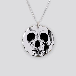 Skull Face Necklace Circle Charm