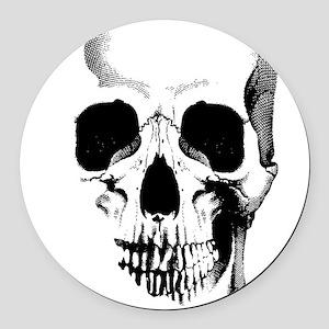 Skull Face Round Car Magnet
