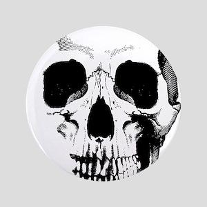 """Skull Face 3.5"""" Button"""
