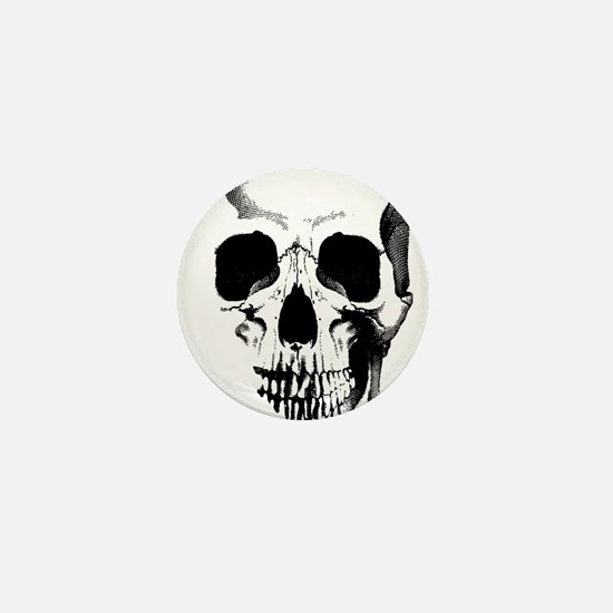 Skull Face Mini Button