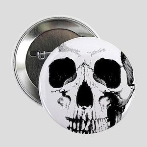 """Skull Face 2.25"""" Button"""
