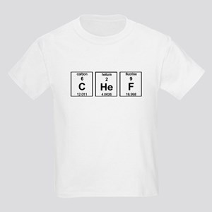 Chef Element Symbols Kids Light T-Shirt