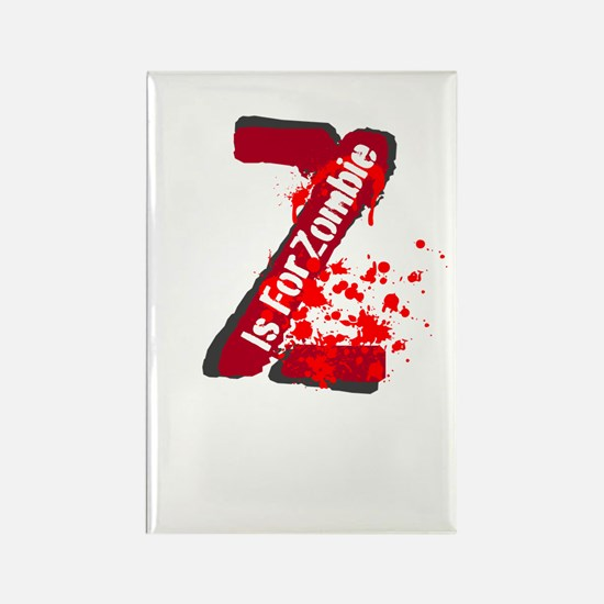 Z Is For Zombie Rectangle Magnet