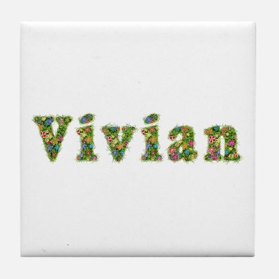 Vivian Floral Tile Coaster