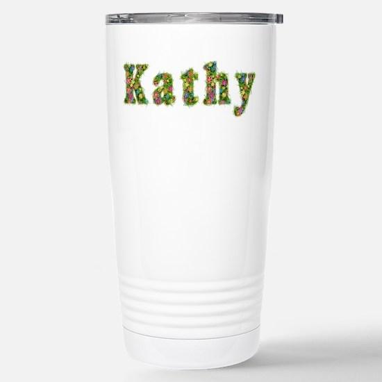 Kathy Floral Stainless Steel Travel Mug