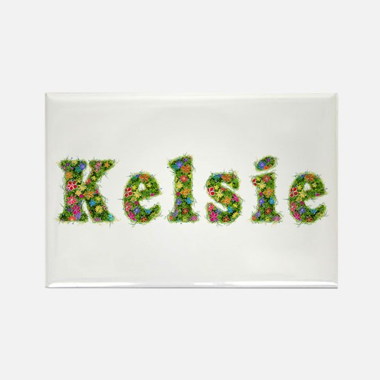 Kelsie Floral Rectangle Magnet