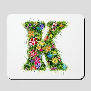 K Floral Mousepad