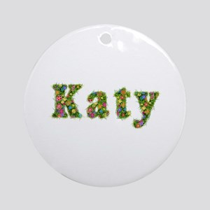 Katy Floral Round Ornament