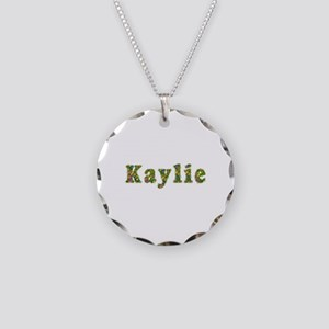 Kaylie Floral Necklace Circle Charm