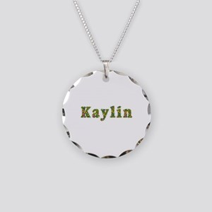 Kaylin Floral Necklace Circle Charm