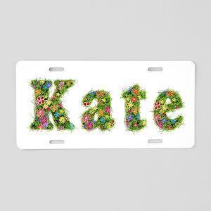 Kate Floral Aluminum License Plate