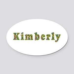 Kimberly Floral Oval Car Magnet