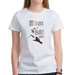 I like manly things Women's T-Shirt