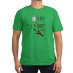 I like manly things Men's Fitted T-Shirt (dark)