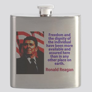 Freedom And The Dignity - Ronald Reagan Flask