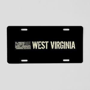 Black Flag: West Virginia Aluminum License Plate