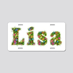 Lisa Floral Aluminum License Plate