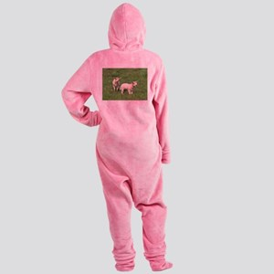Lambs on the field Footed Pajamas