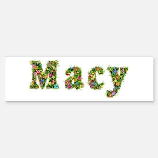 Macy Floral Bumper Bumper Bumper Sticker