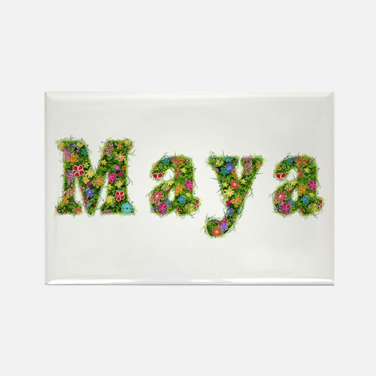 Maya Floral Rectangle Magnet