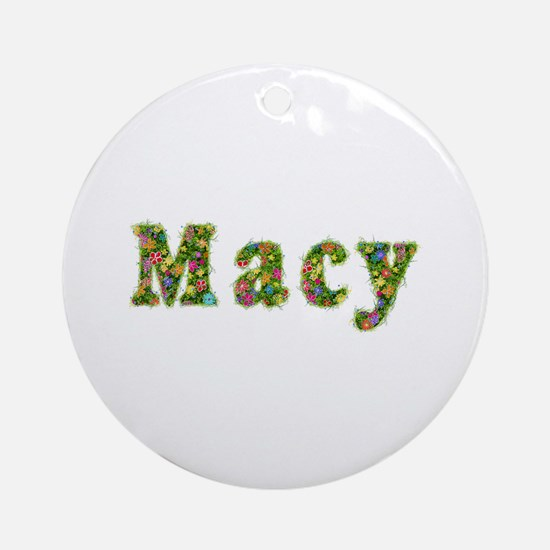 Macy Floral Round Ornament