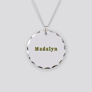 Madalyn Floral Necklace Circle Charm