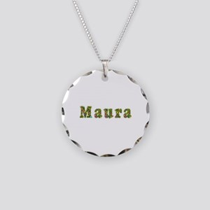 Maura Floral Necklace Circle Charm