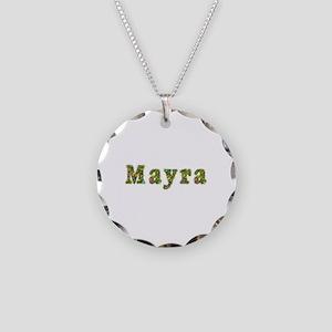 Mayra Floral Necklace Circle Charm