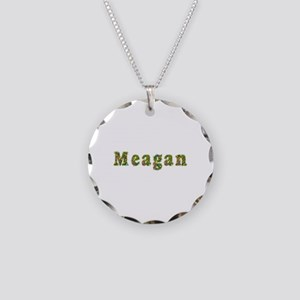Meagan Floral Necklace Circle Charm