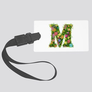 M Floral Large Luggage Tag