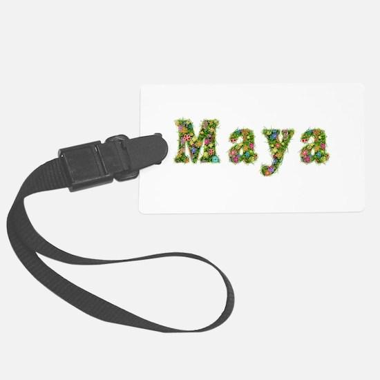 Maya Floral Luggage Tag
