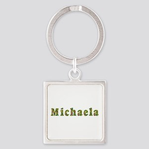 Michaela Floral Square Keychain
