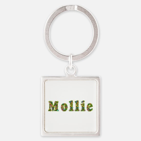 Mollie Floral Square Keychain