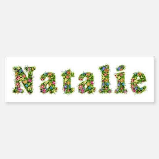 Natalie Floral Bumper Bumper Bumper Sticker