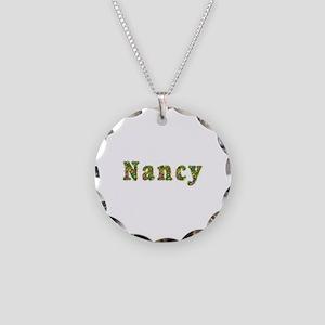 Nancy Floral Necklace Circle Charm