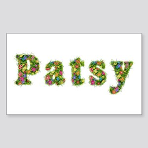 Patsy Floral Rectangle Sticker