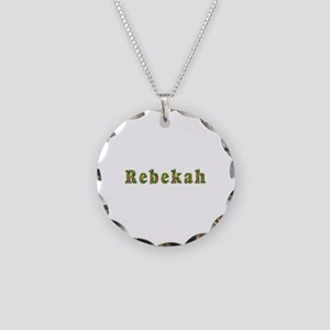 Rebekah Floral Necklace Circle Charm