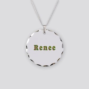 Renee Floral Necklace Circle Charm