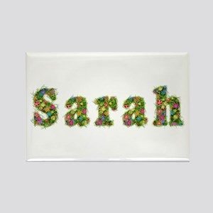Sarah Floral Rectangle Magnet