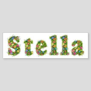 Stella Floral Bumper Sticker