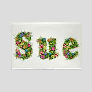 Sue Floral Rectangle Magnet