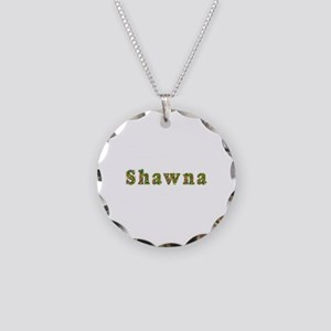 Shawna Floral Necklace Circle Charm
