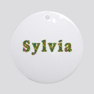 Sylvia Floral Round Ornament